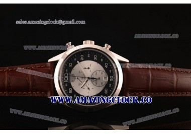 Mikrograph SS Sliver/Black Dial on Brown Leather Strap - AST16