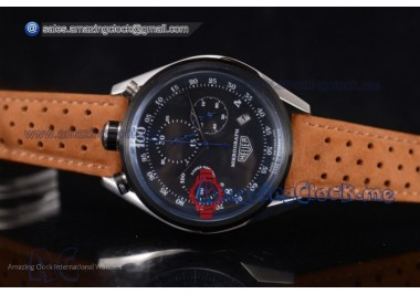 Carrera Mikrograph 100th anniversary 2016 SS Black Dial Brown Leather - Miyota Quartz