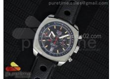 Monza SS Calibre 17 Black Dial on Black Leather Strap Jap Quartz