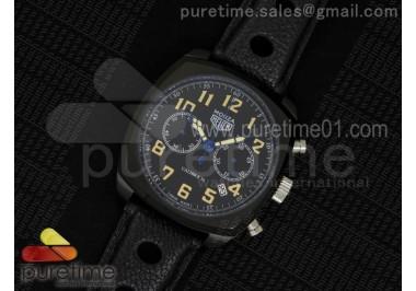 Monza PVD Calibre 36 Black Dial on Black Leather Strap Jap Quartz